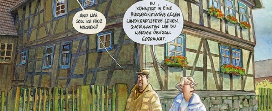 Karikaturen versüßen die Satire