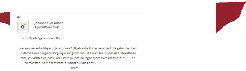 Windenergieförderer contra Energieromantiker: Johannes Lackmann nimmt einen Ruhrbaron aufs Korn.