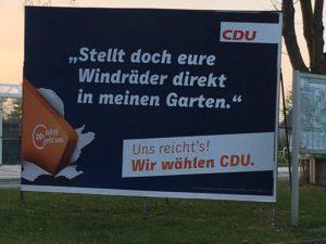 Bei der Abschaltung der grünen Energiewende dabei: die CDU - hier ein Wahlplakat in Borchen , Nordrhein-Westfalen