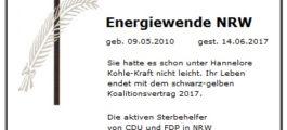 FDP beerdigt die Energiewende in NRW