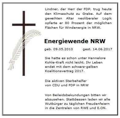 Christian Lindner und die FDP beerdigen die Energiewende in NRW